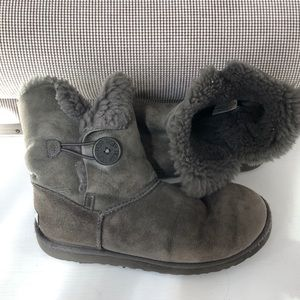 Worn Grey UGG boots